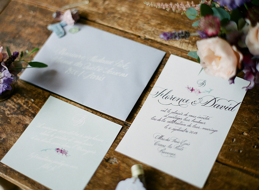 Provence wedding stationery. http://antescriptum.com